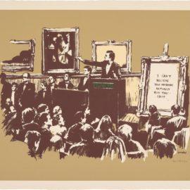 Banksy-Morons (Sepia)-2008