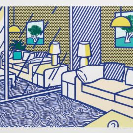 Roy Lichtenstein-Blue Floor-1991