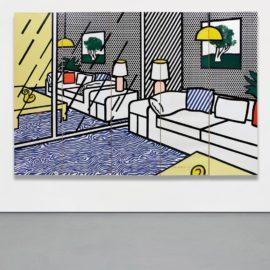 Roy Lichtenstein-Wallpaper With Blue Floor Interior-1992