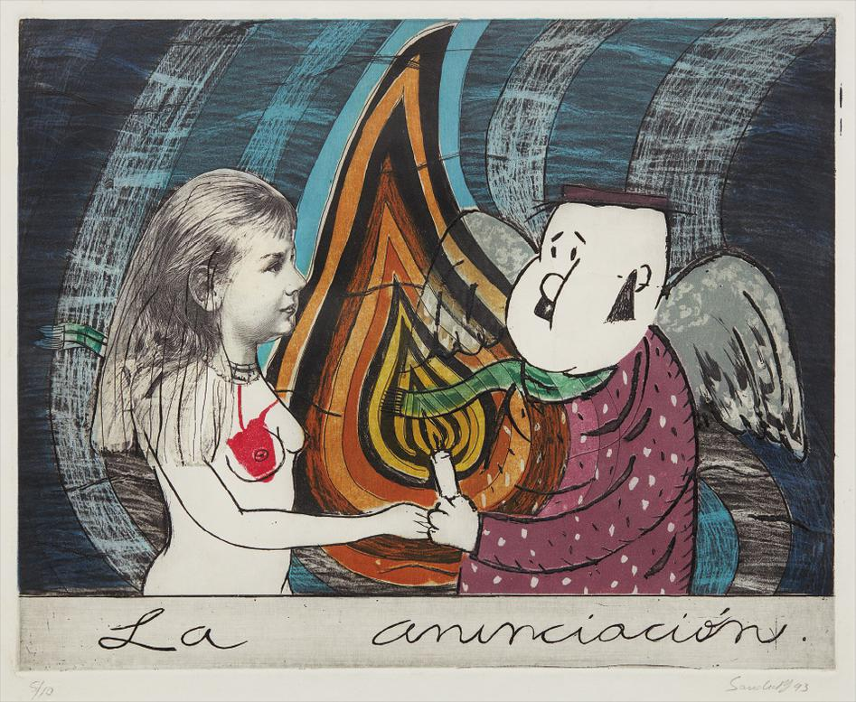 Sandra Ramos - La Anunciacion (The Annunciation)-1993