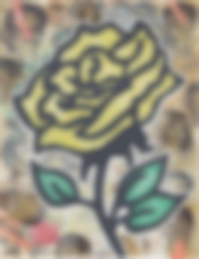 Donald Baechler-Yellow Rose-2011