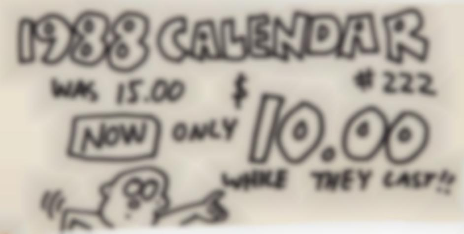 Keith Haring-Pop Shop Signage (1988 Calendars)-1988