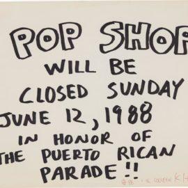Keith Haring-Pop Shop Signage (Puerto Rican Parade)-1988