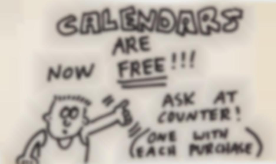 Keith Haring-Pop Shop Signage (Free Calendars)-1988