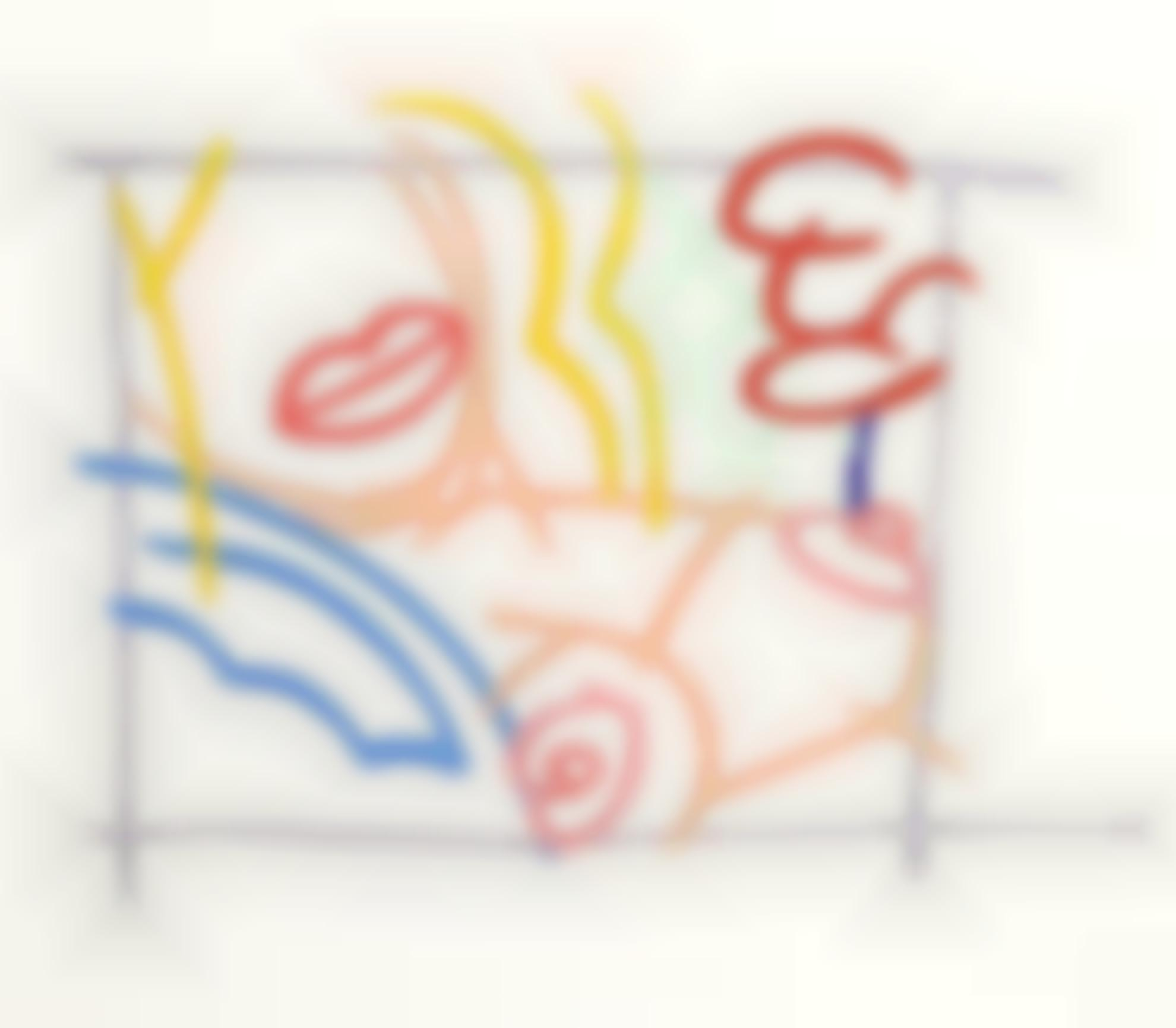Tom Wesselmann-Study For Bedroom Blonde With Green Wallpaper-1985