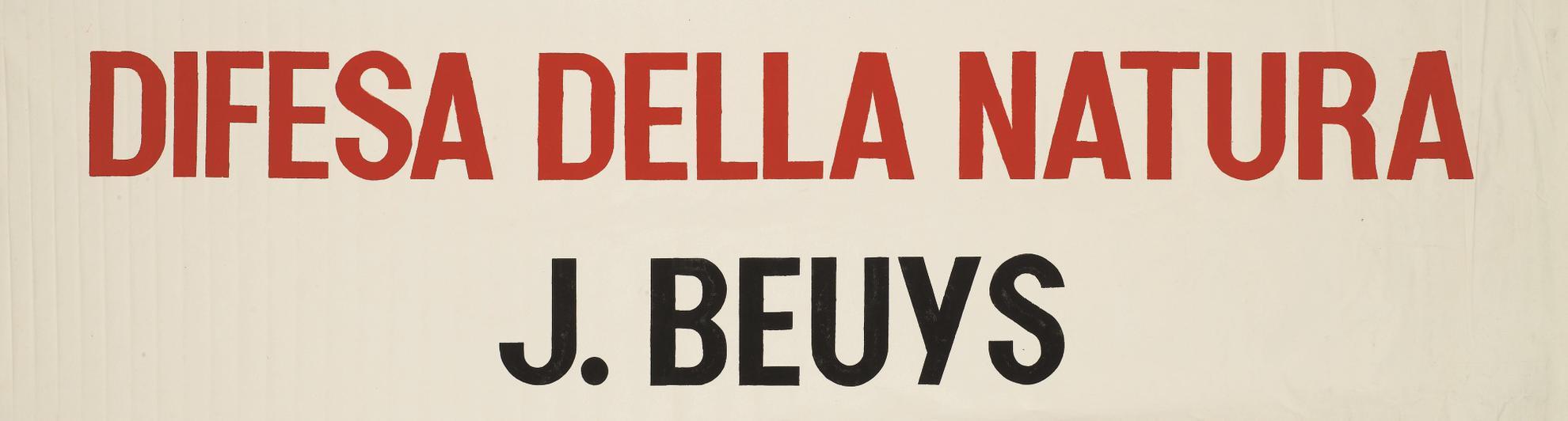 Joseph Beuys-Difesa Della Natura-1982