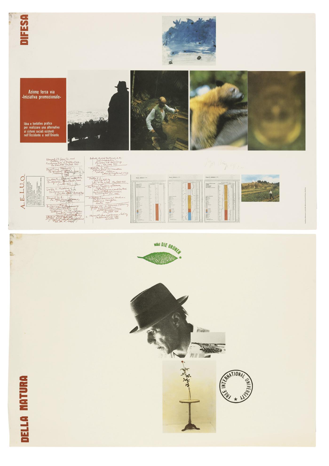 Joseph Beuys-A.E.I.O.U. (Difesa Della Natura) (Diptyque)-1983