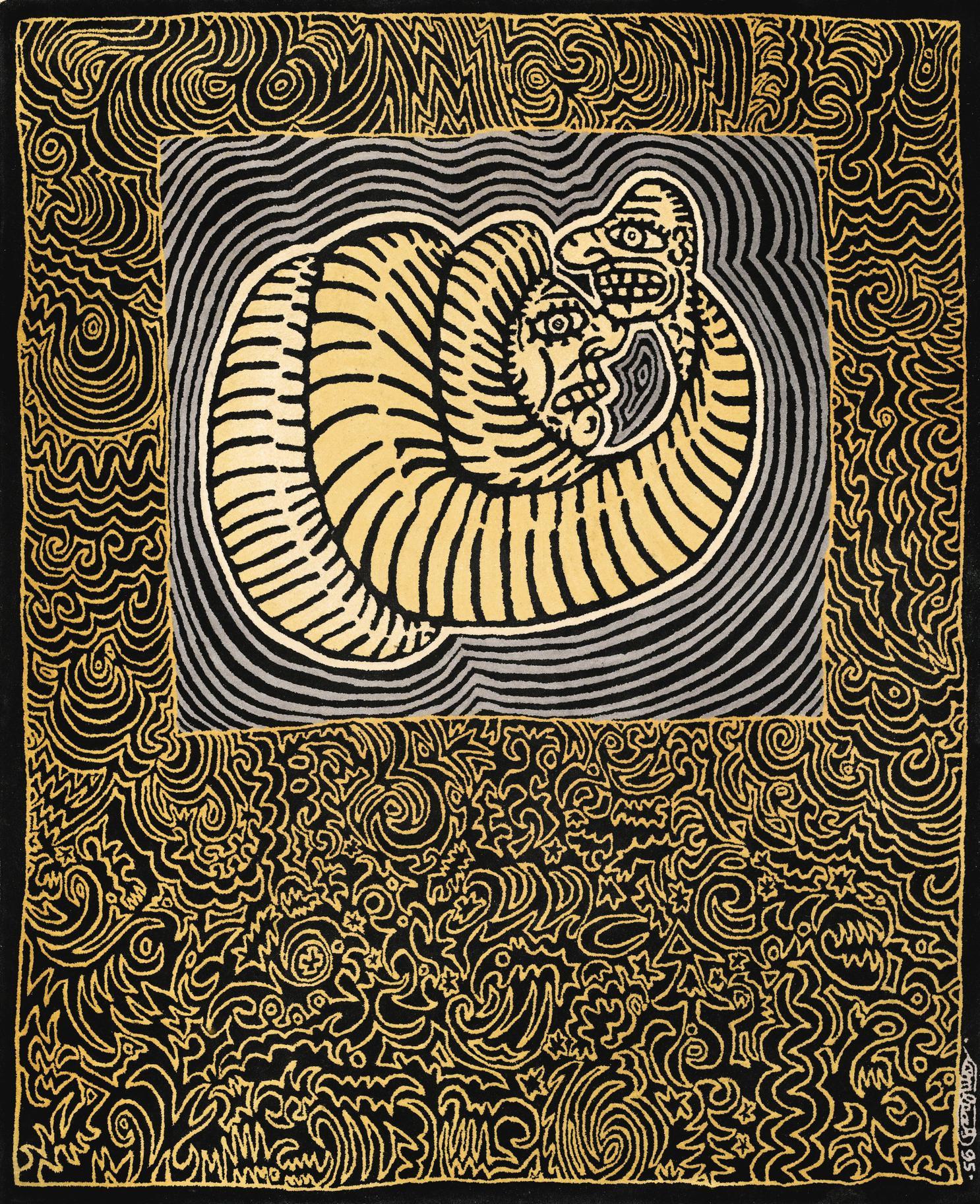 Robert Combas-Lenrouleur Et Lenroule Carpet-1995