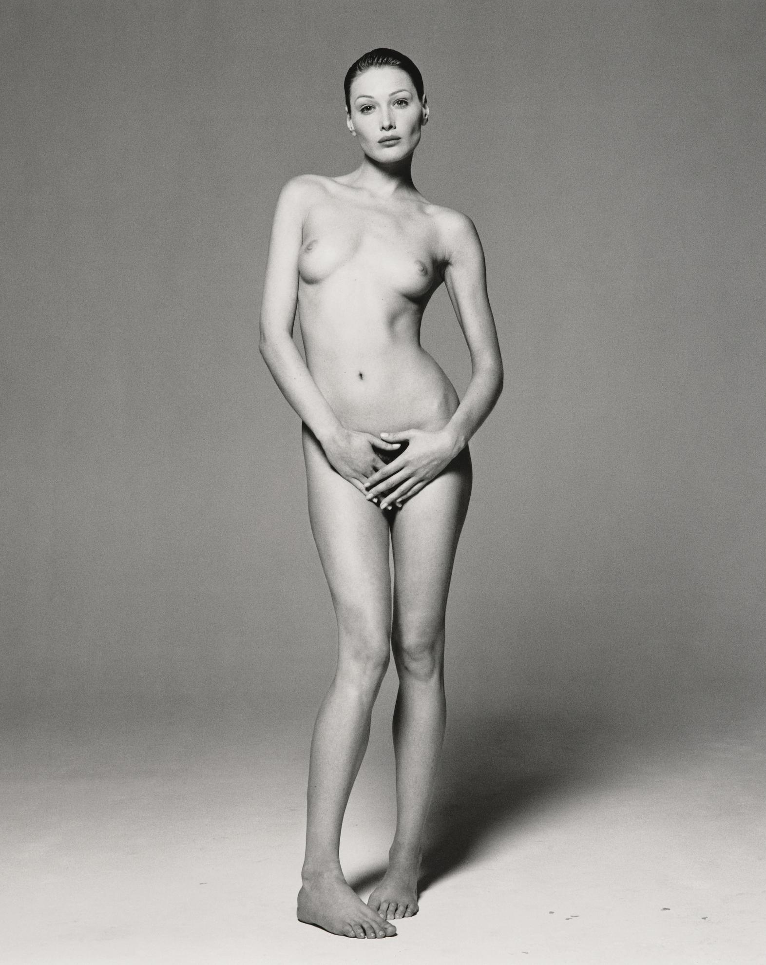 Michel Comte-Carla Bruni, (Safe Sex Campaign)-1993