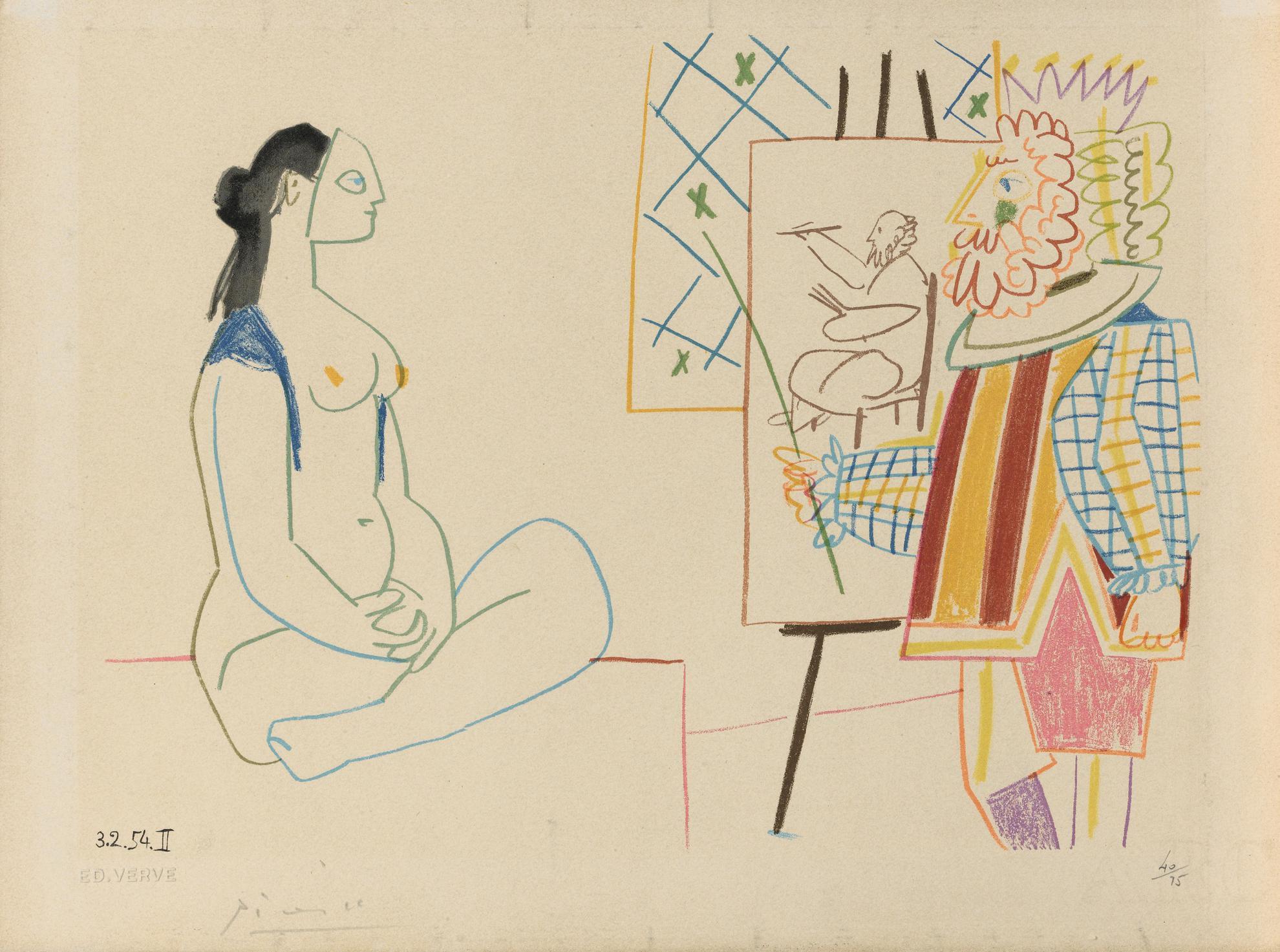 D'Apres Pablo Picasso - Untitled-1954