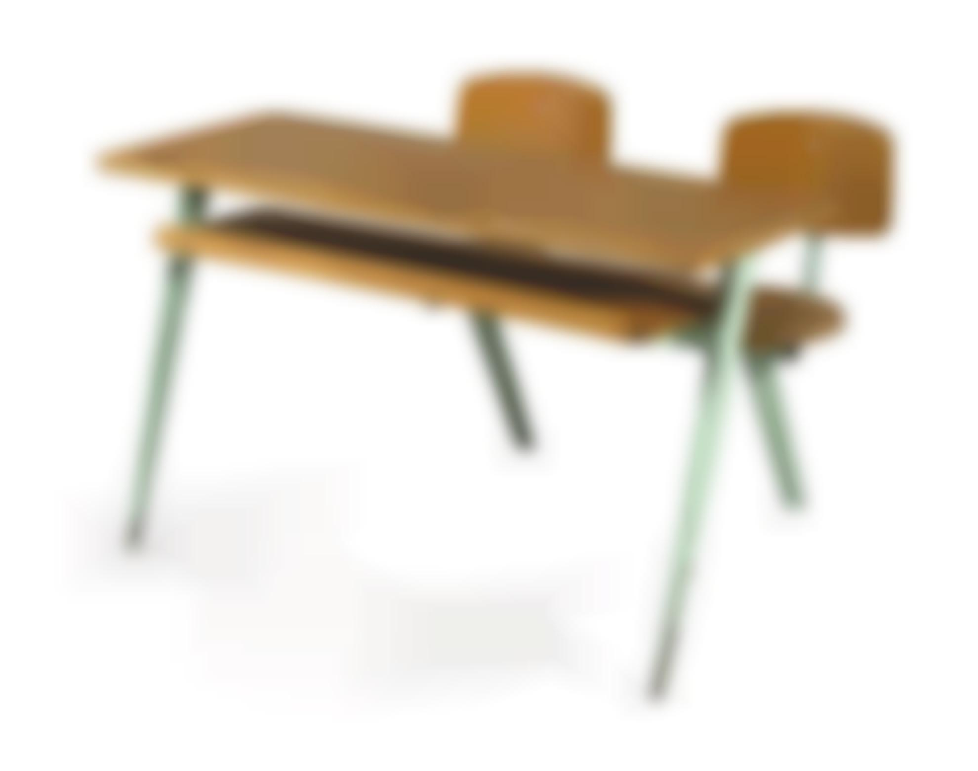 Jean Prouve-Two Seater School Desk, N. 850-1952