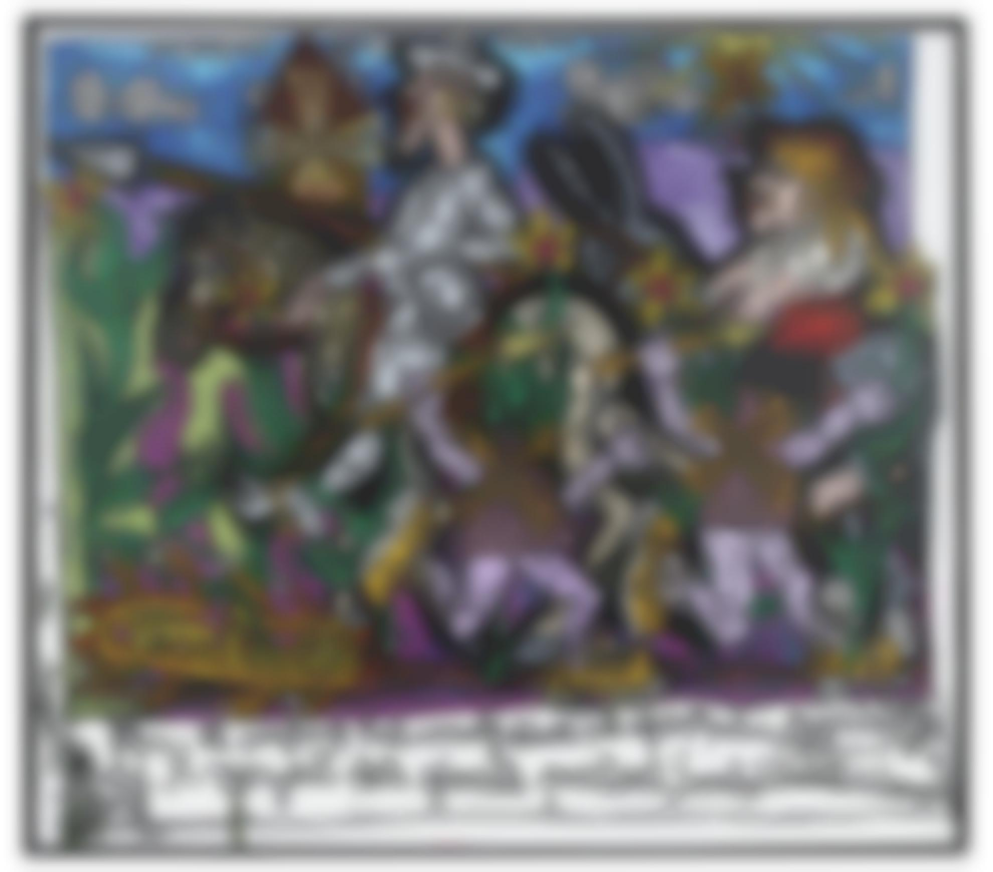 Robert Combas-La Bataille De Don Quichotte Contre Les Moulins-1996