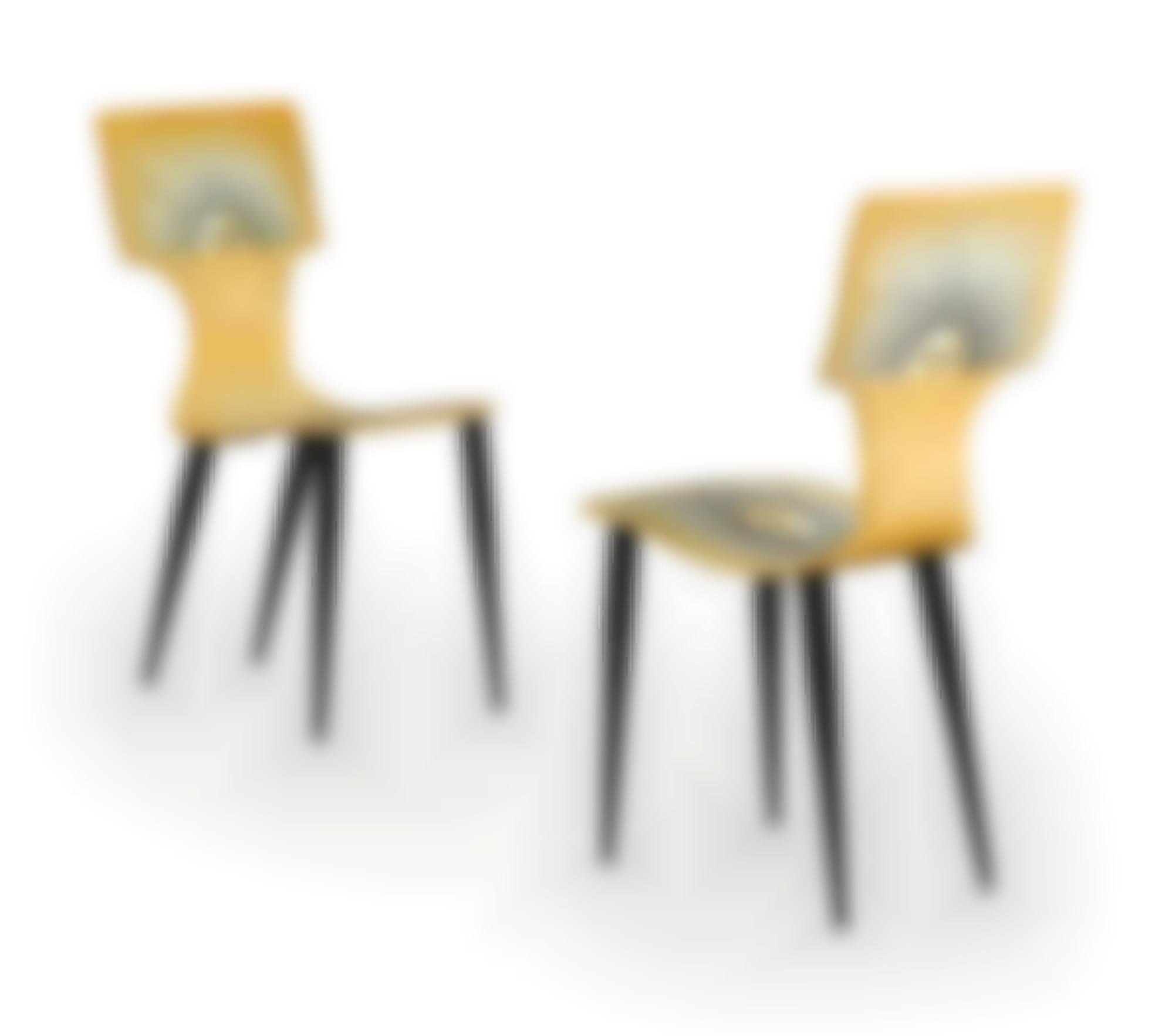 Fornasetti - Two Sole Chairs-1990