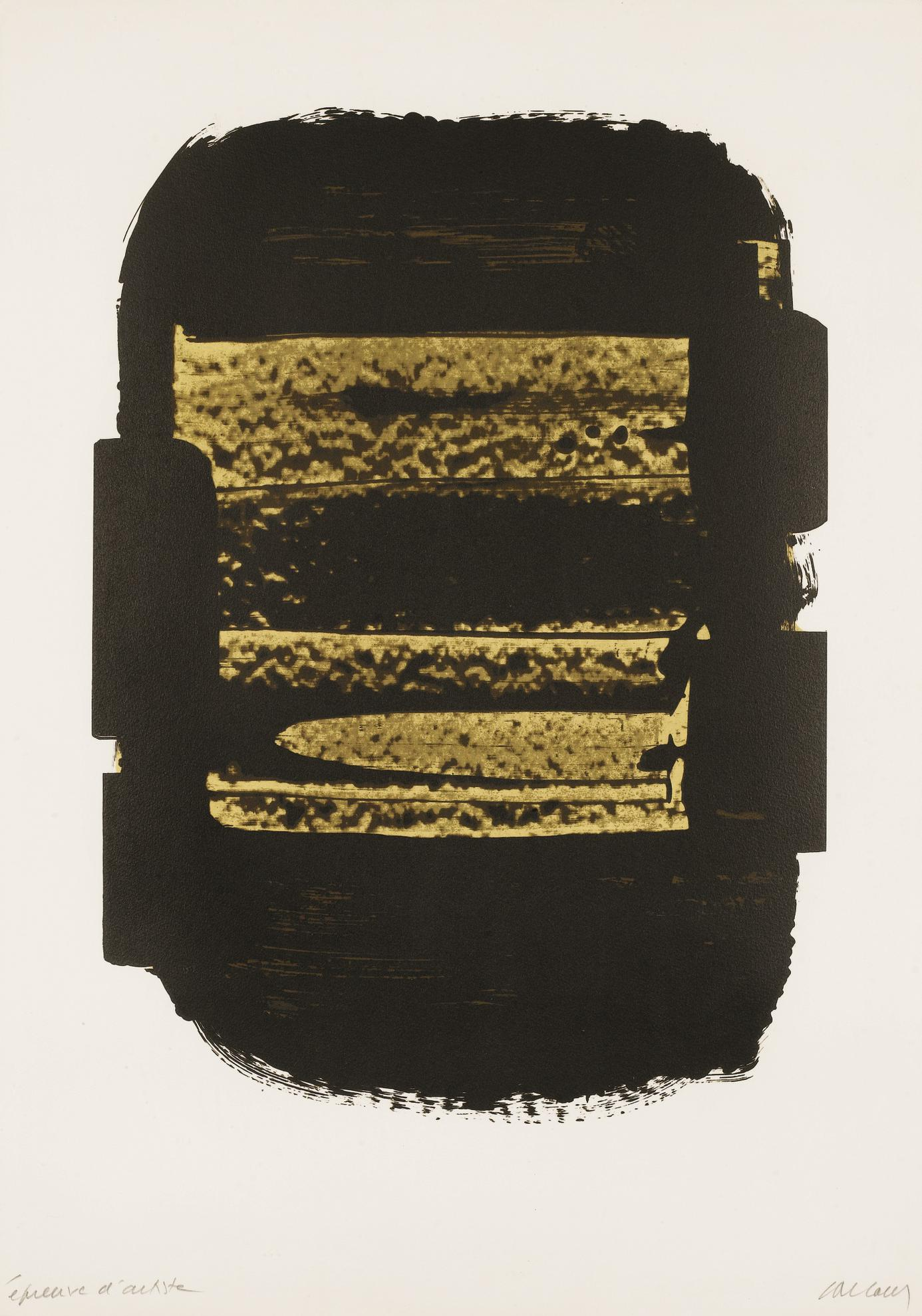 Pierre Soulages-Lithographie 41-1979