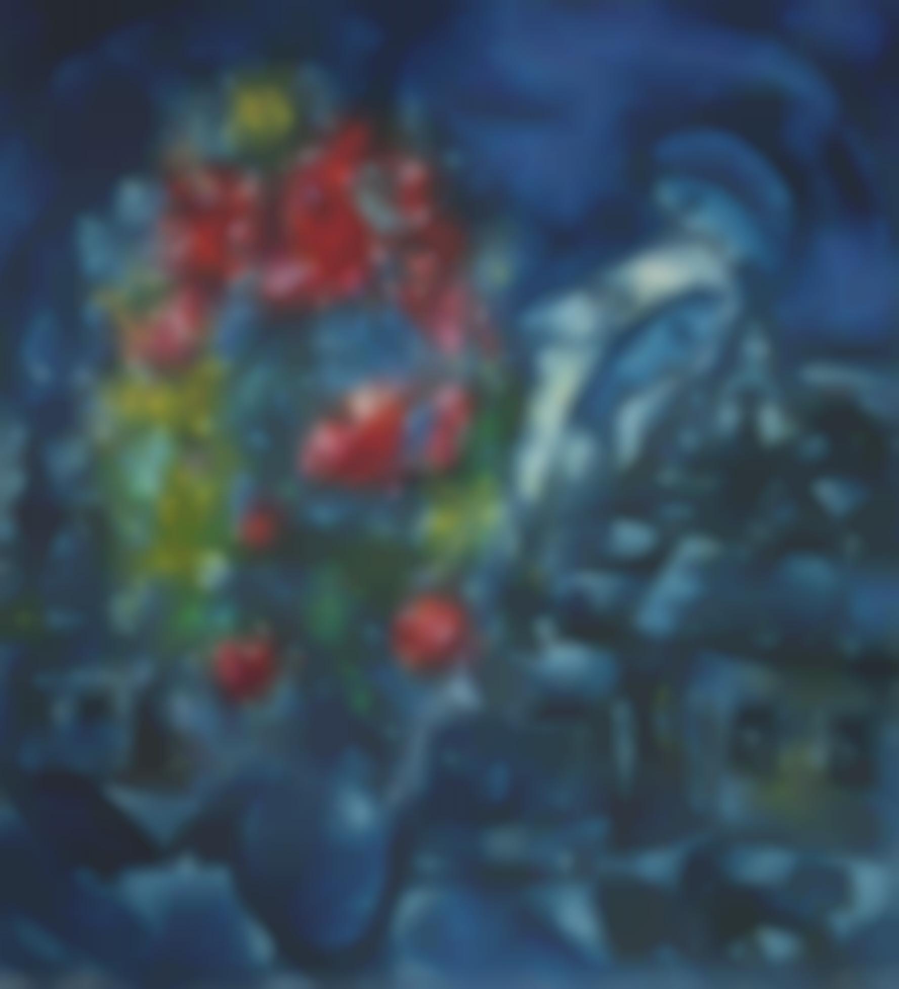 Marc Chagall-Le Village Bleu-1959