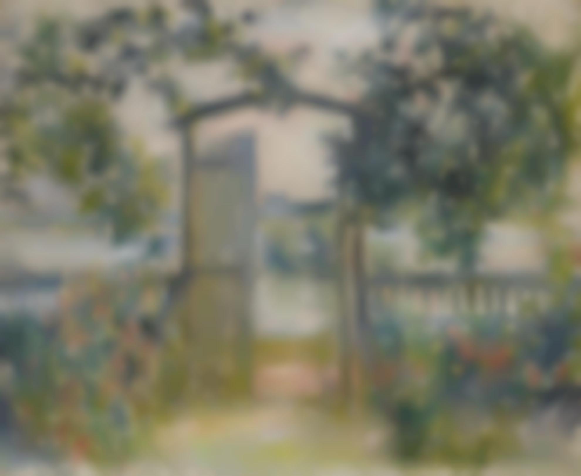 Claude Monet-La Porte Du Jardin A Vetheuil-1881