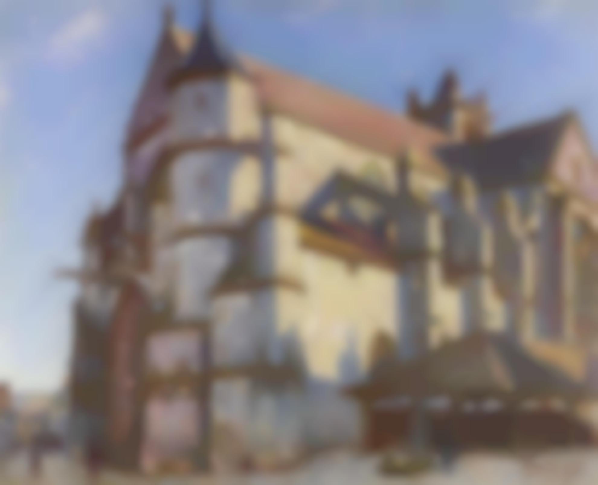 Alfred Sisley-La Vieille Eglise De Moret, Le Matin Au Soleil-1894