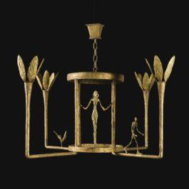 Alberto Giacometti-Lustre Avec Femme, Homme Et Oiseau-1952