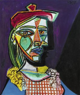 Pablo Picasso-Femme Au Beret Et A La Robe Quadrillee (Marie-Therese Walter)-1937