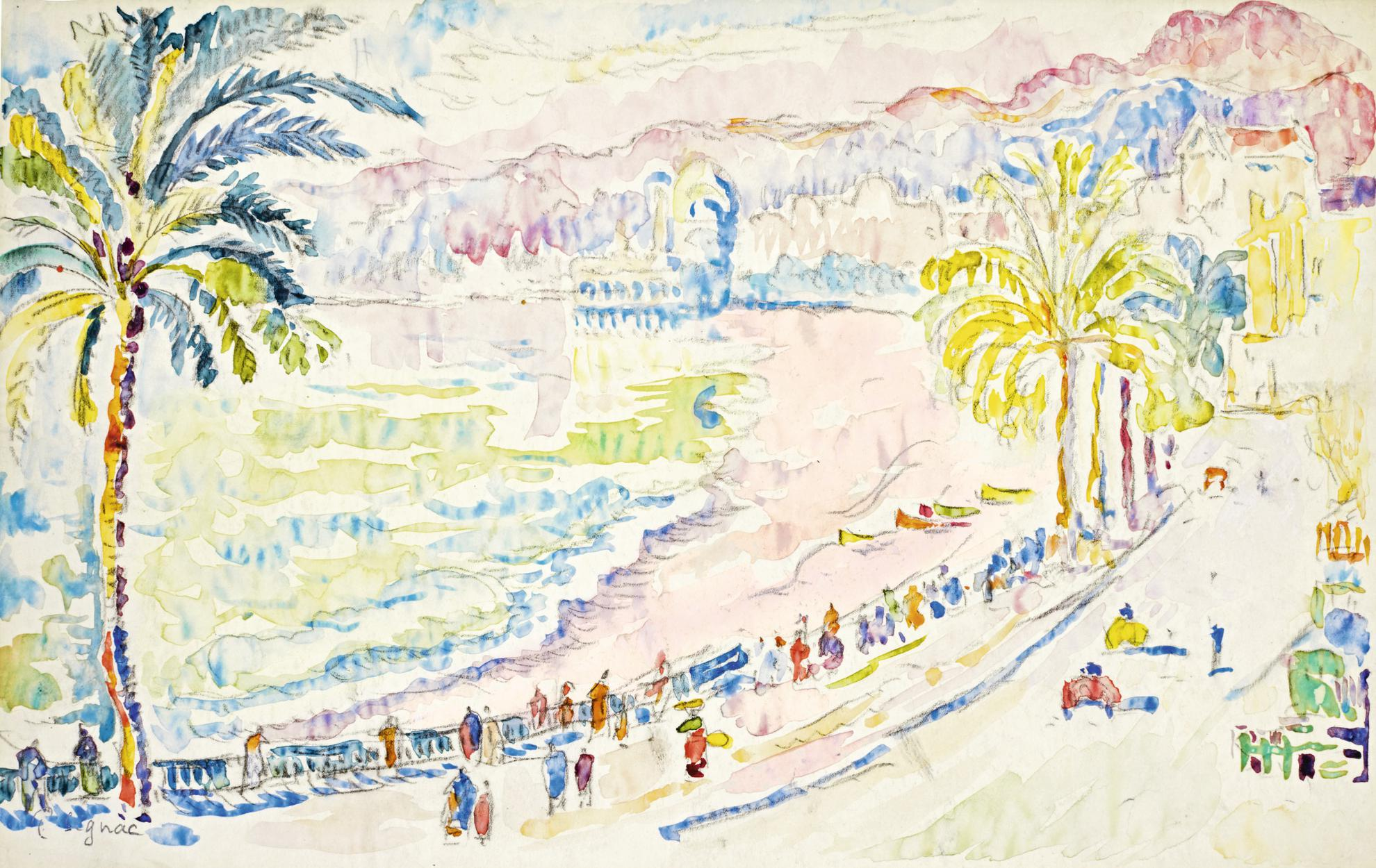 Paul Signac-Nice, La Promenade Des Anglais-