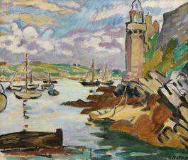 Louis Valtat-Phare Sur La Cote, Tour Fortifiee, Bretagne-1924