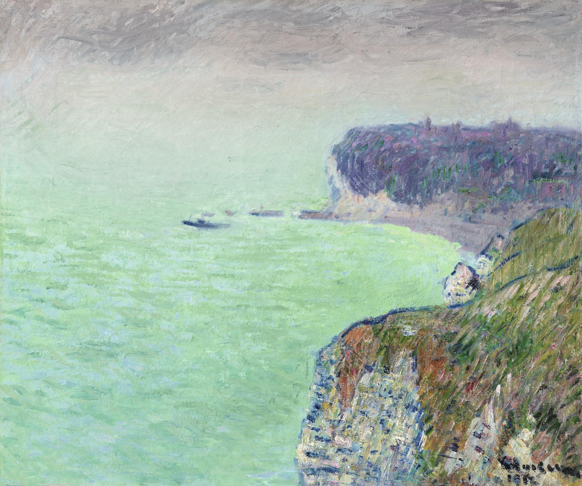 Gustave Loiseau-Vapeurs Devant Les Falaises De Grainval-1912