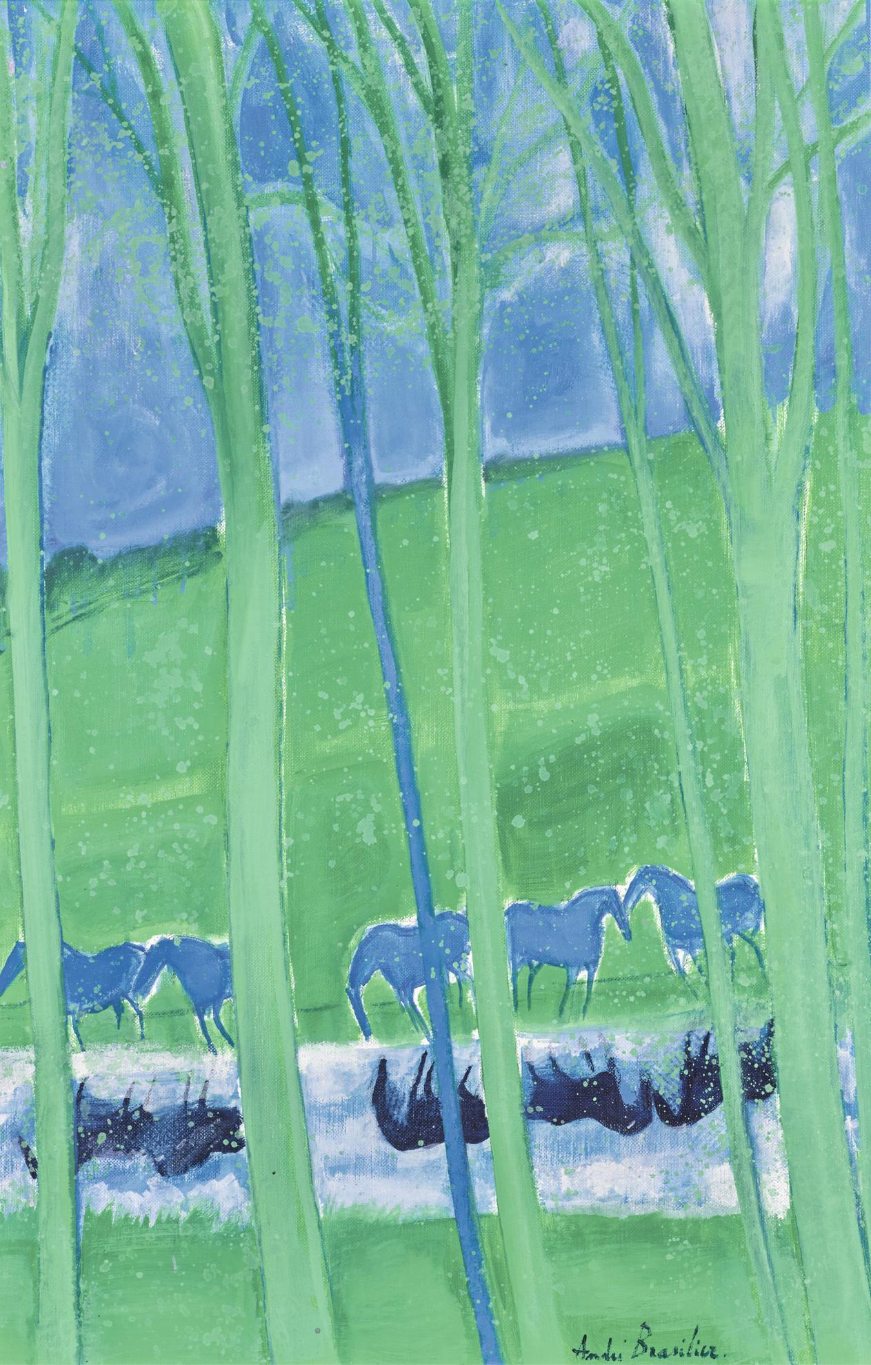 Andre Brasilier-Reflets Sur La Riviere-1991