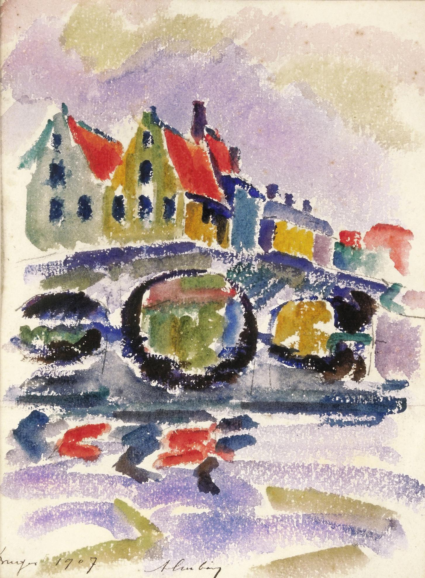 Auguste Herbin-Bruges-1907