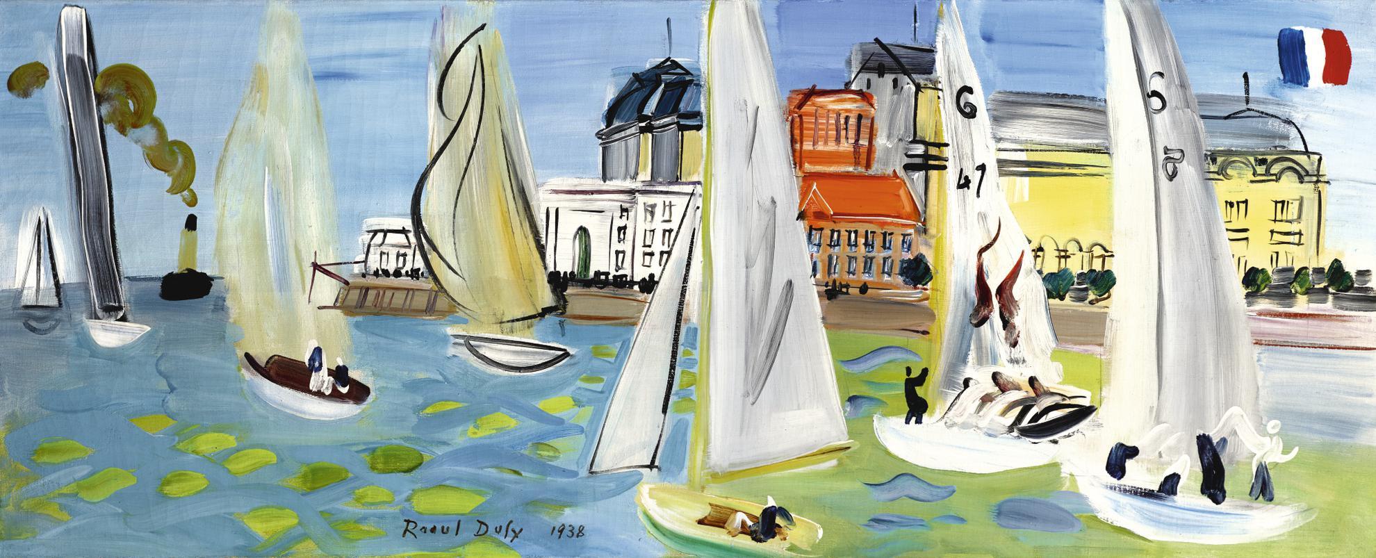 Raoul Dufy-Regates (Le Bassin De Deauville)-1938