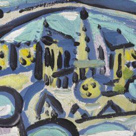 Pablo Picasso-Vue De Notre-Dame De Paris-1945