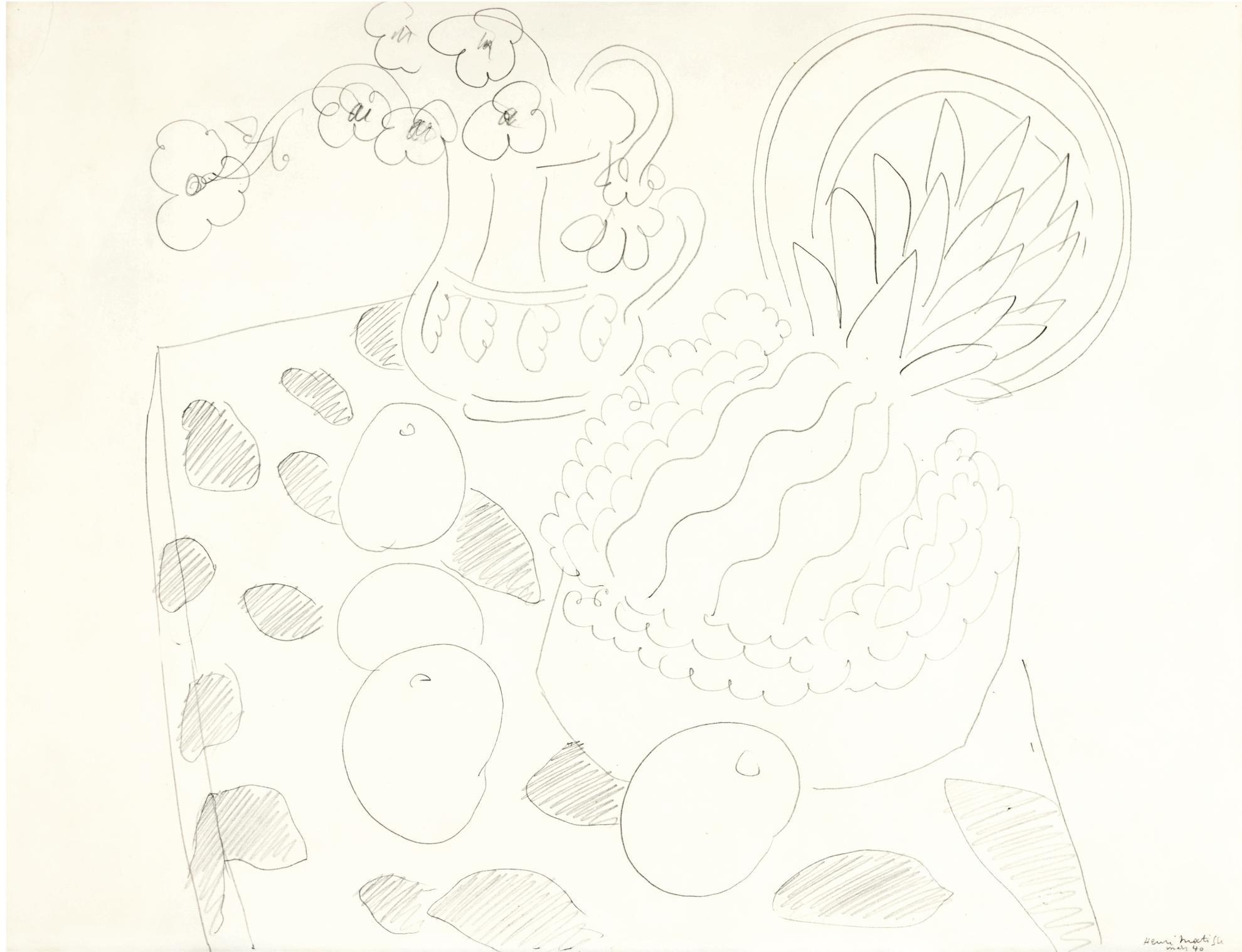 Henri Matisse-Nature Morte Aux Ananas Et Anemones-1940