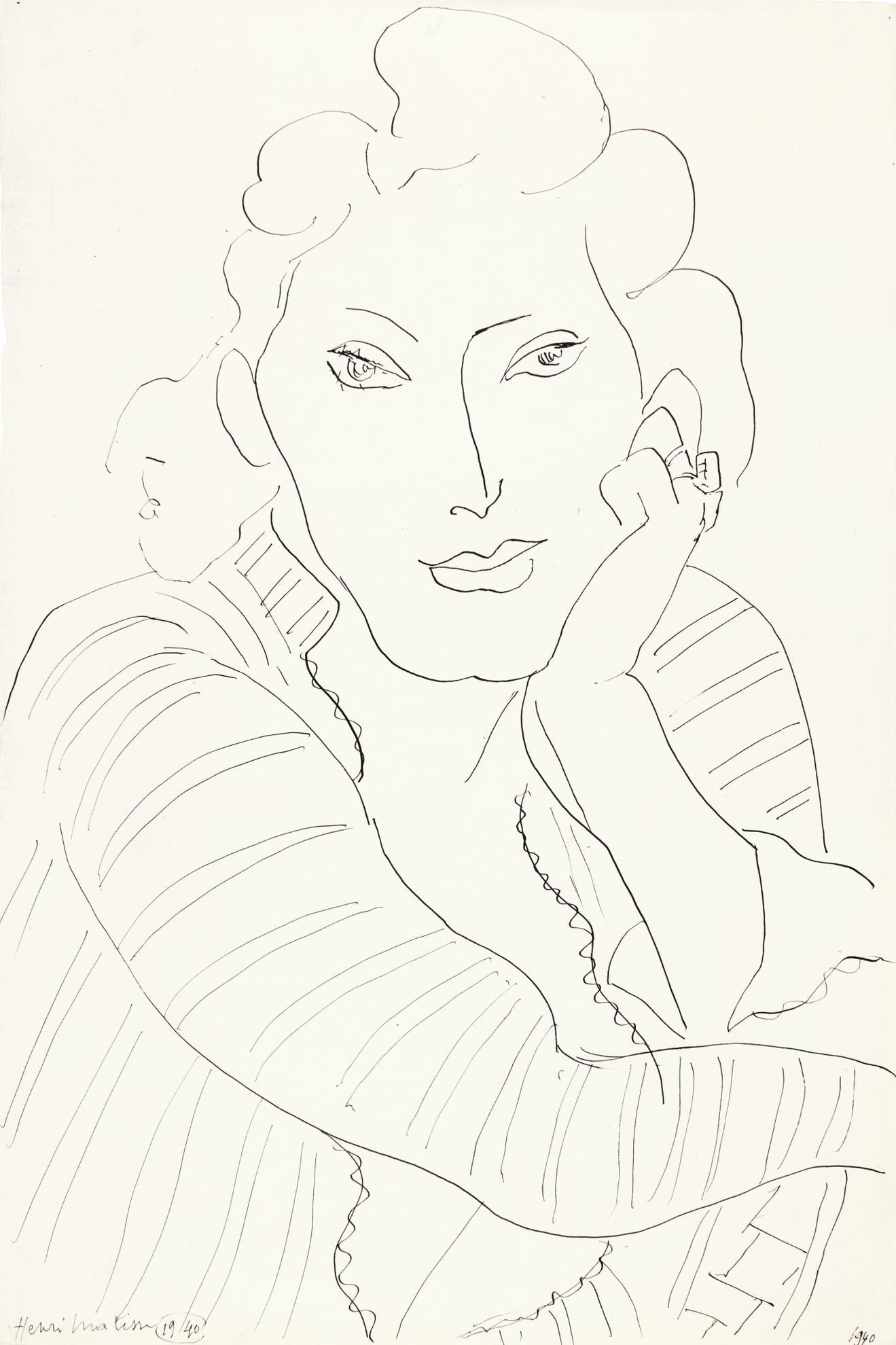 Henri Matisse-Buste De Femme Accoudee-1939