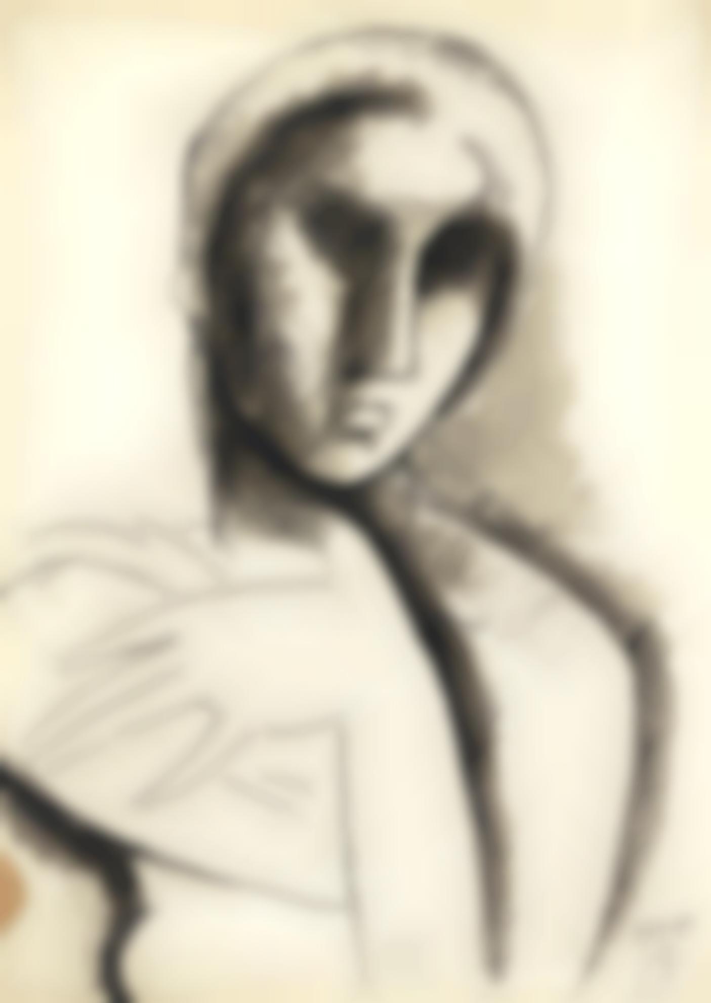Julio Gonzalez-Jeune Fille Melancolique-1939