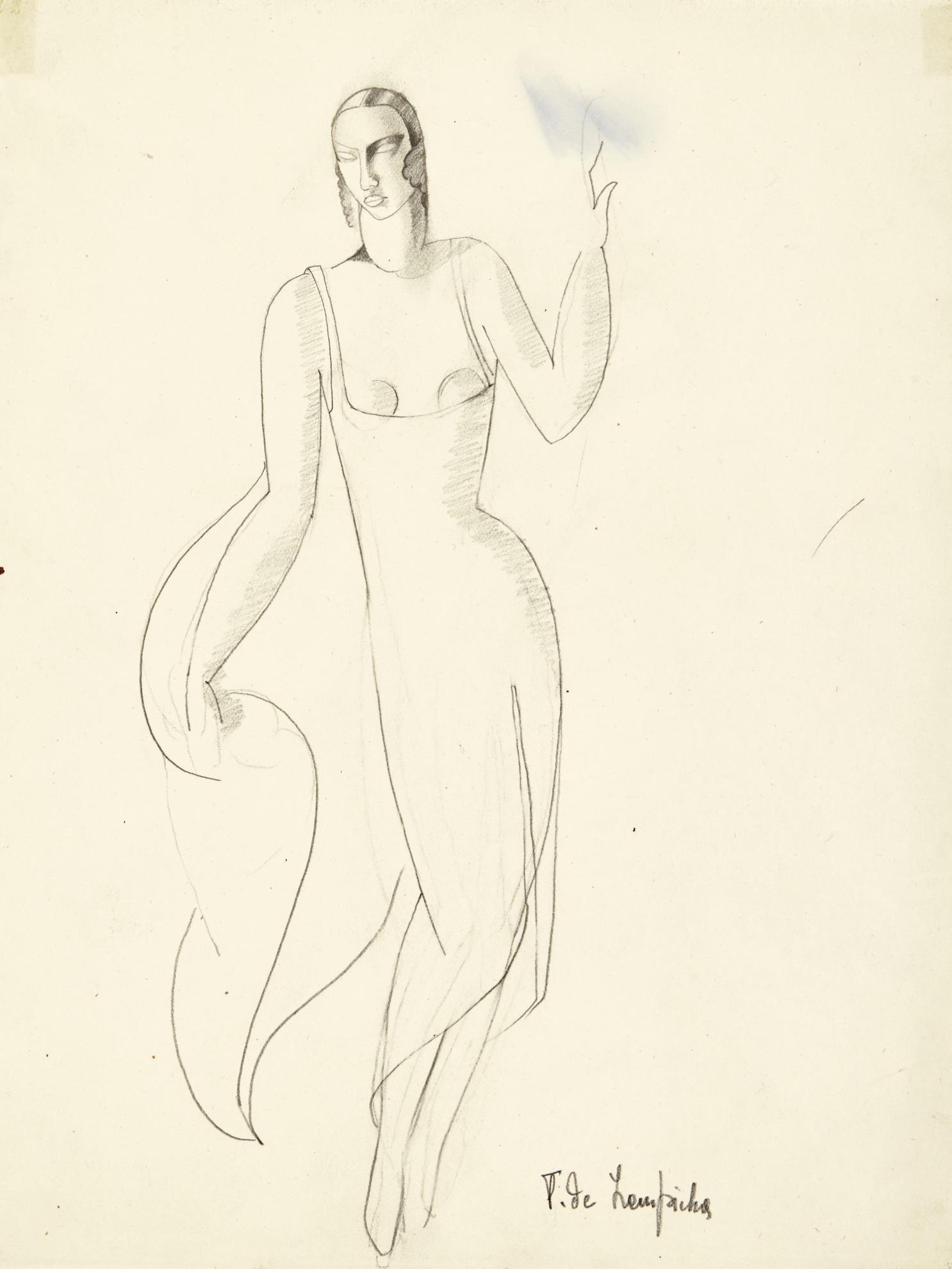 Tamara de Lempicka-Femme En Robe Du Soir-1929