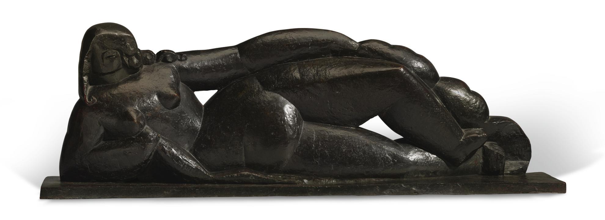 Henri Laurens-Nu Couche A La Draperie Or Femme Nue Couchee-1927