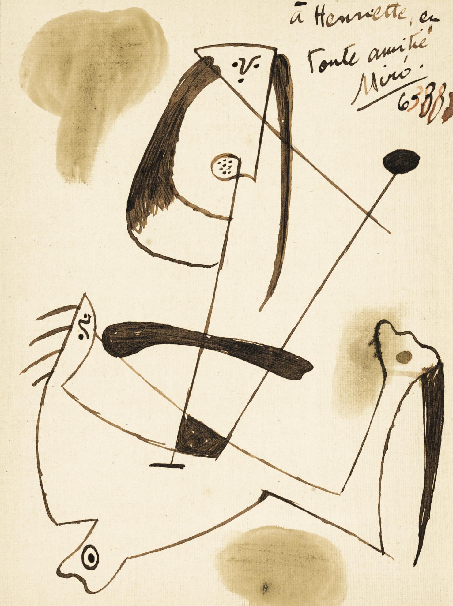 Joan Miro-Sans Titre (Personnage Surrealiste)-1938