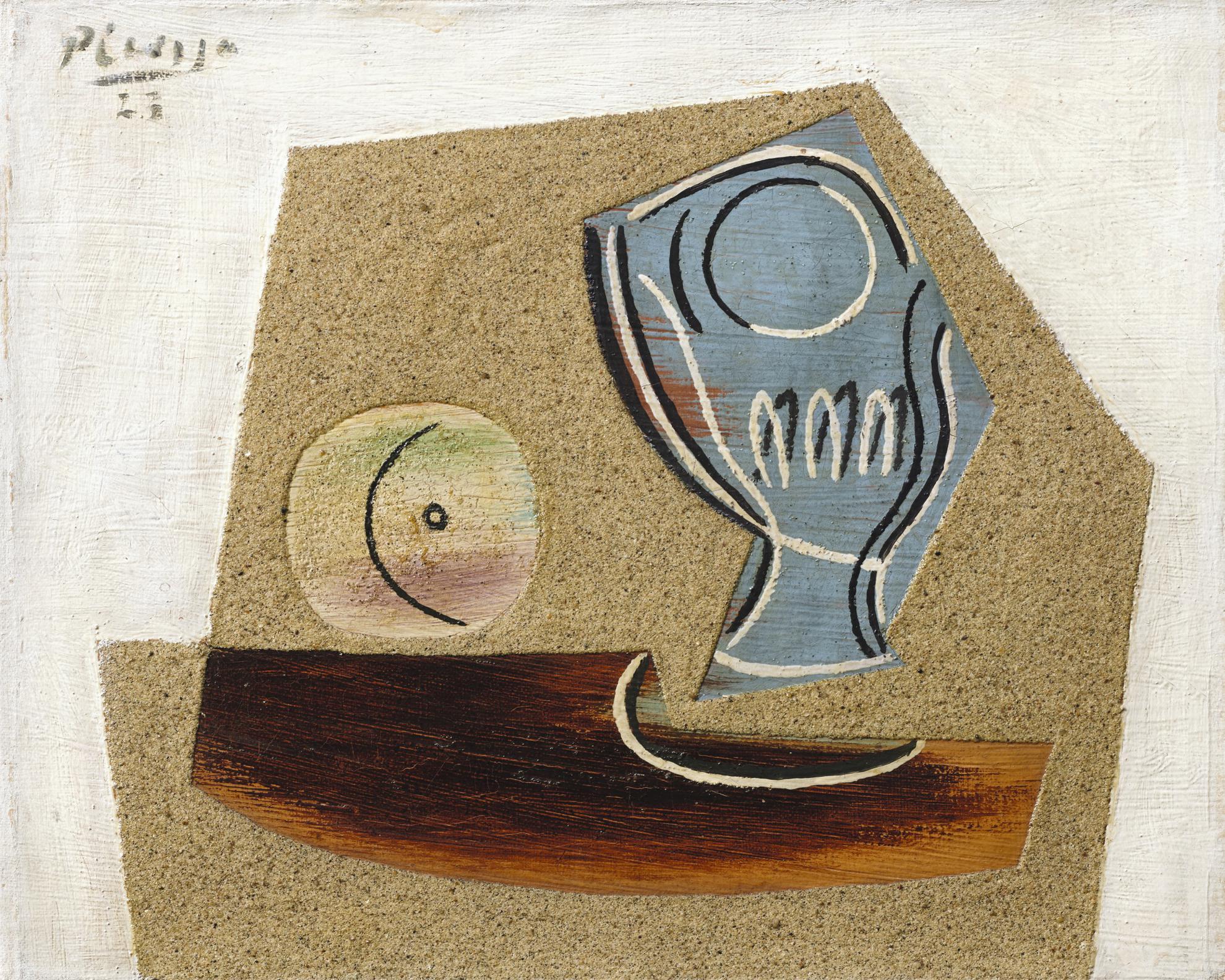 Pablo Picasso-Pomme Et Verre-1923