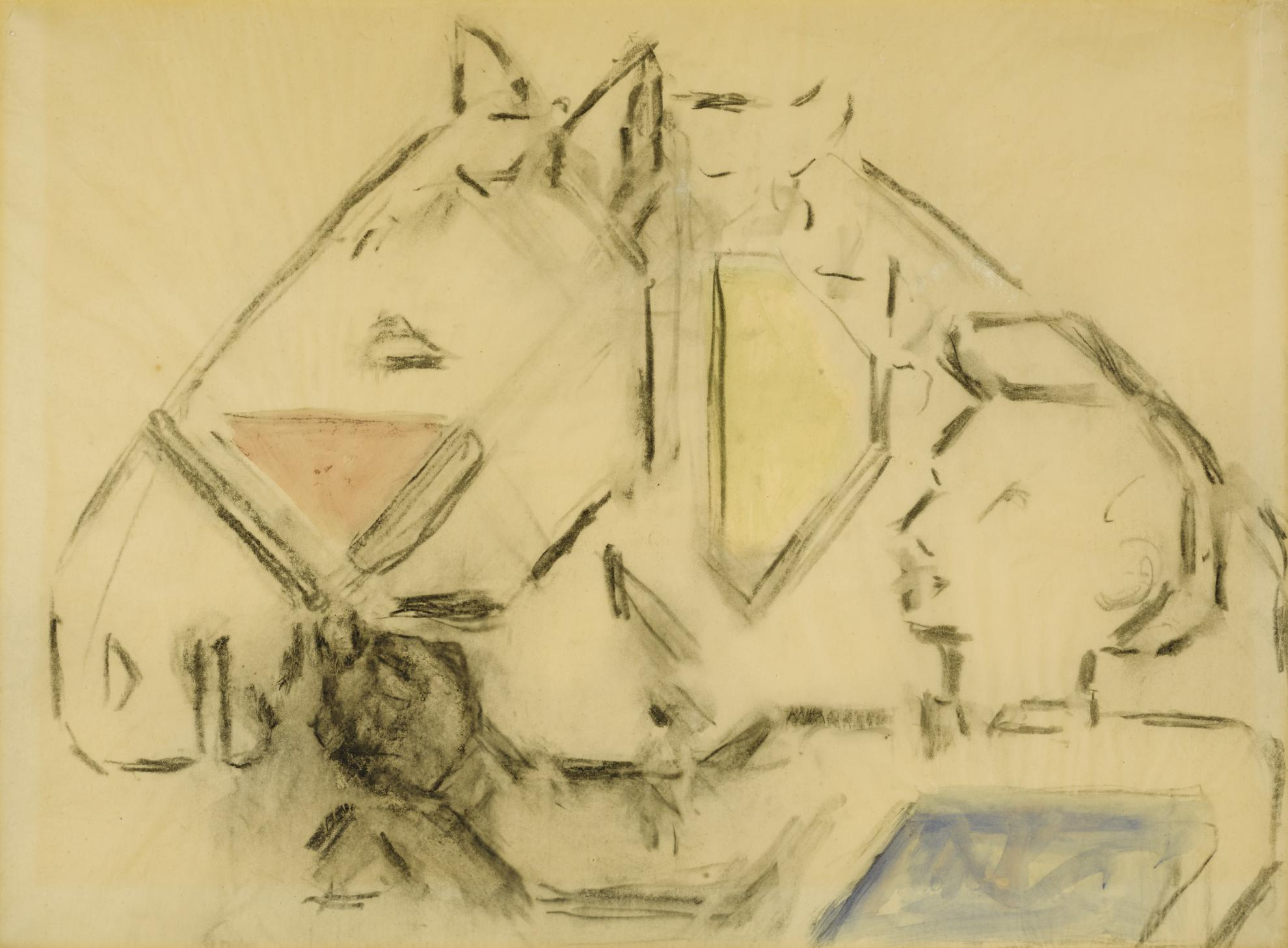 Bart Van Der Leck - Boerenjongen Paard Leidend (Studie) (Farmboy Leading A Horse (Study))-1955