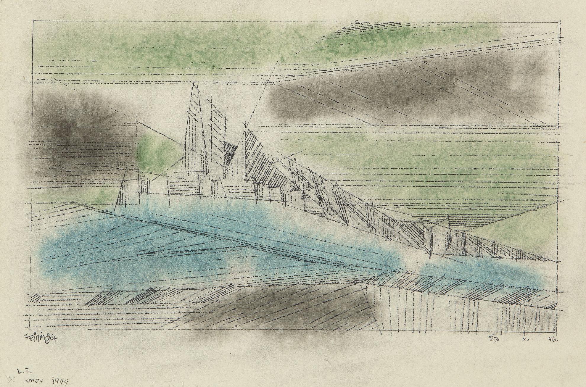 Lyonel Feininger-Untitled (Seascape)-1946