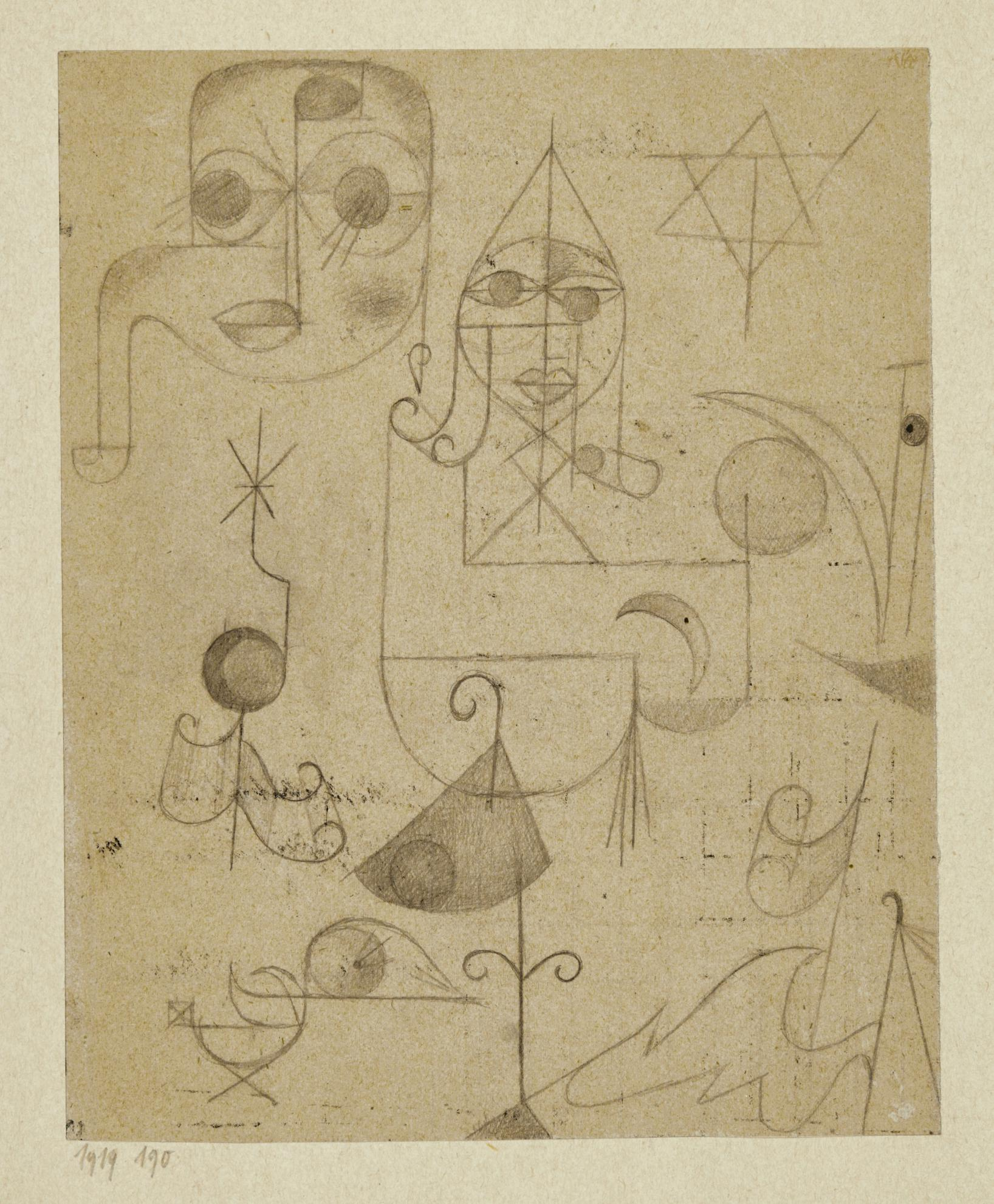 Paul Klee-Gestirne Und Sternbilder (Stars And Constellations)-1919