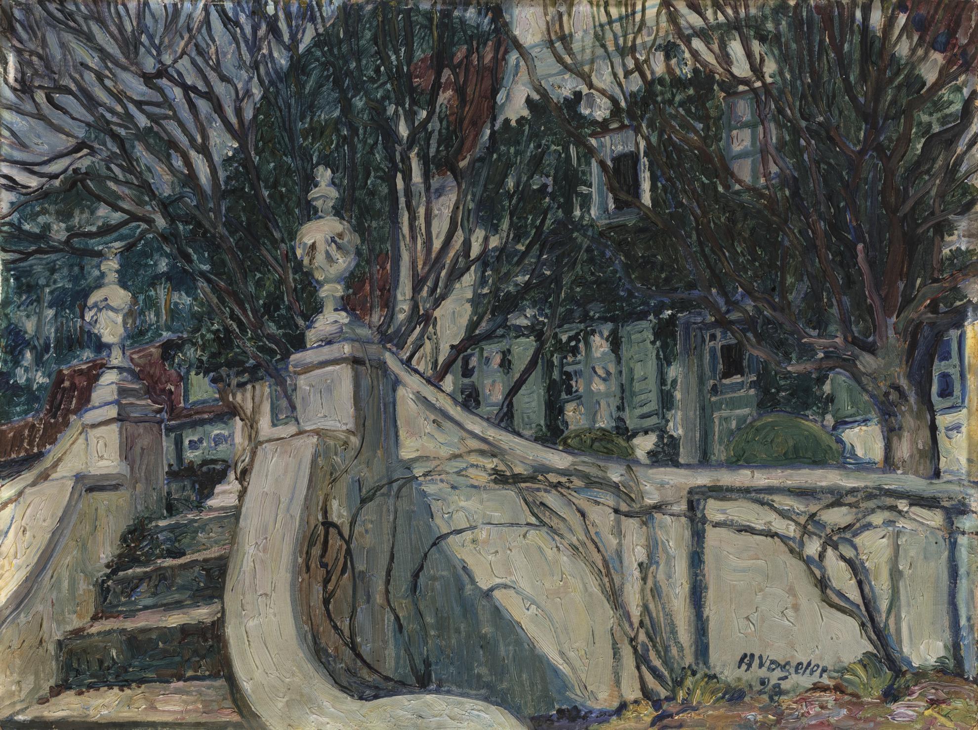 Heinrich Vogeler - Treppenaufgang Zum Barkenhoff (Stairs To Barkenhoff)-1923