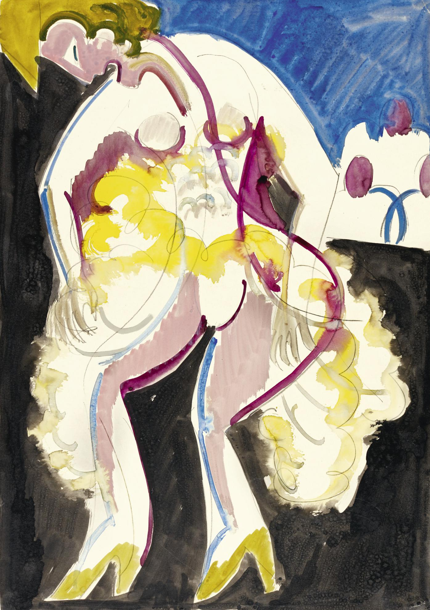 Ernst Ludwig Kirchner-Tanzerin Palucca (The Dancer Palucca)-1930