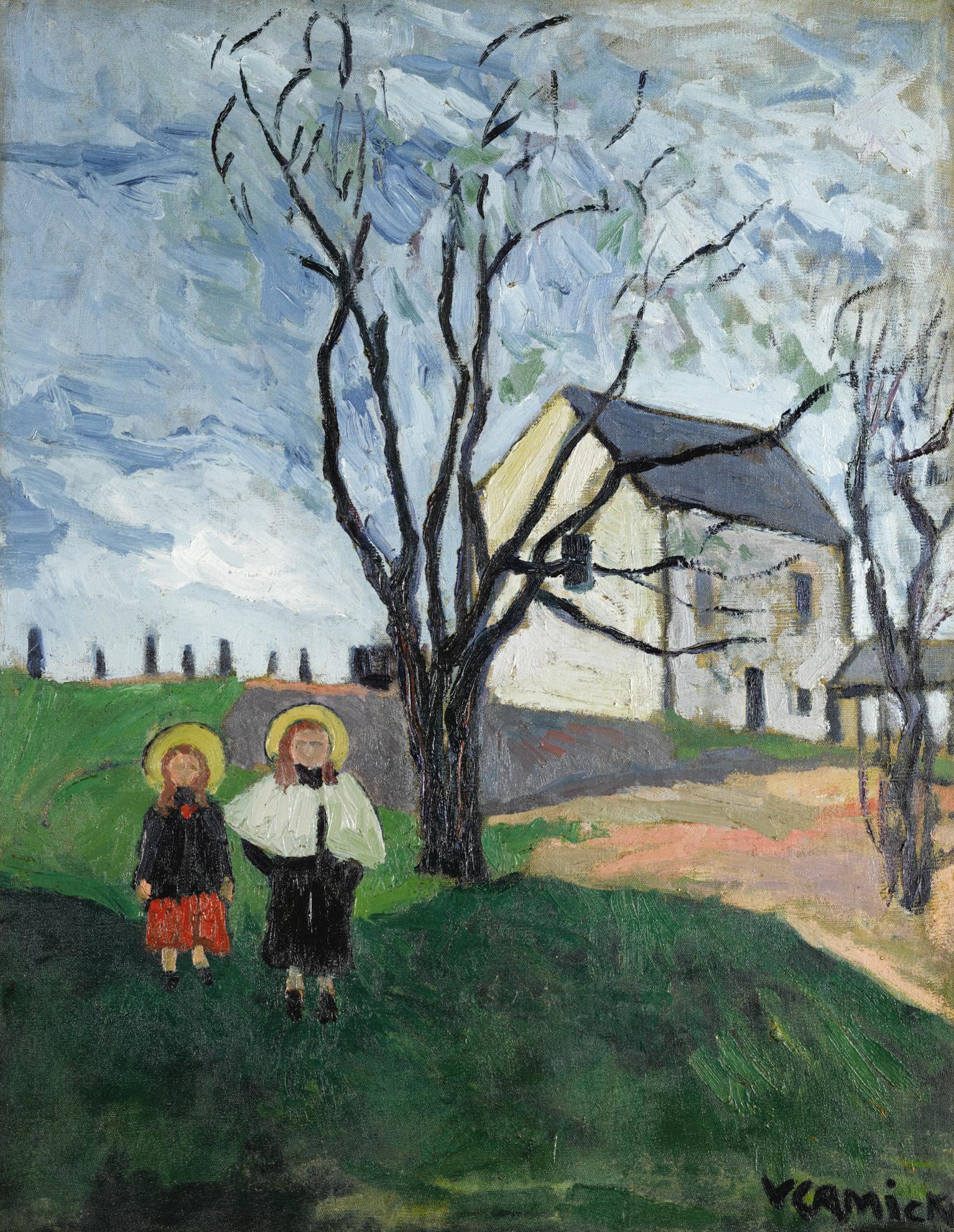 Maurice de Vlaminck-Rusticite Or Les Enfants Dans Un Jardin-1903