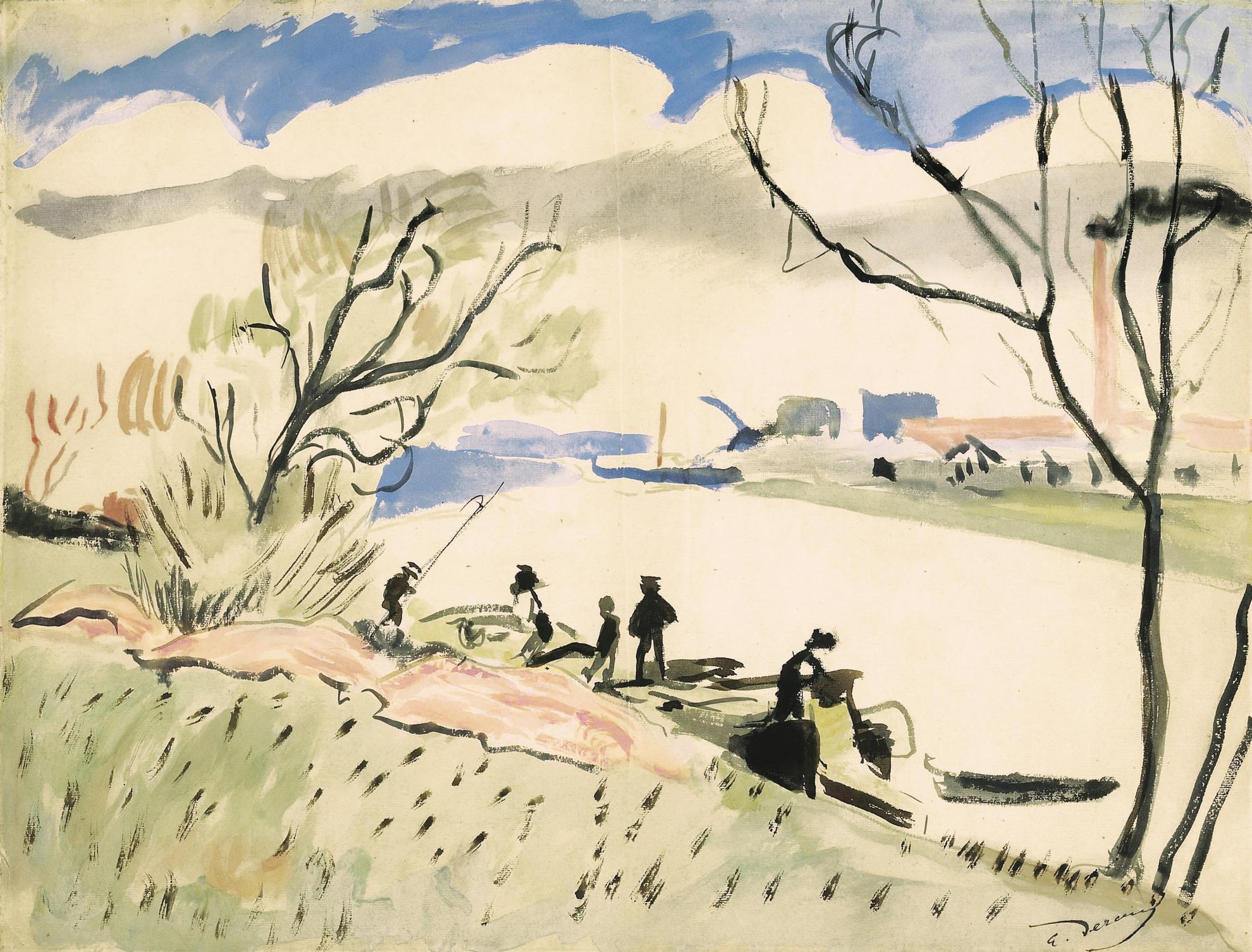 Andre Derain-La Seine A Nanterre-1904