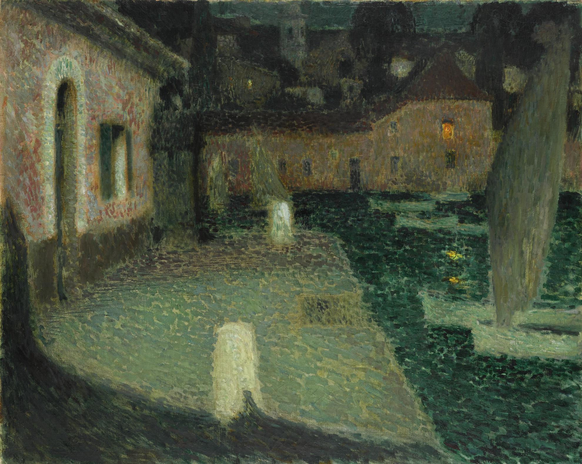 Henri Eugene Le Sidaner-Les Barques, Saint-Jean-Cap-Ferrat-1910
