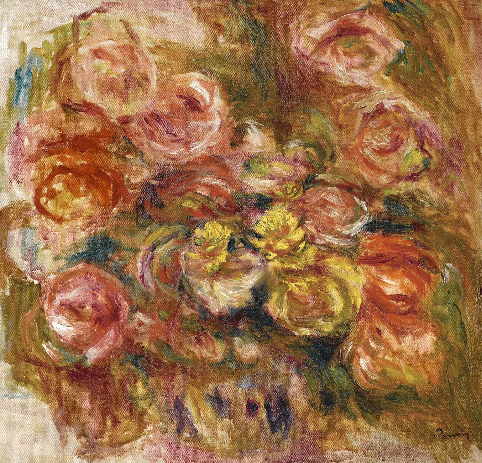 Pierre-Auguste Renoir-Esquisse De Fleurs-1914