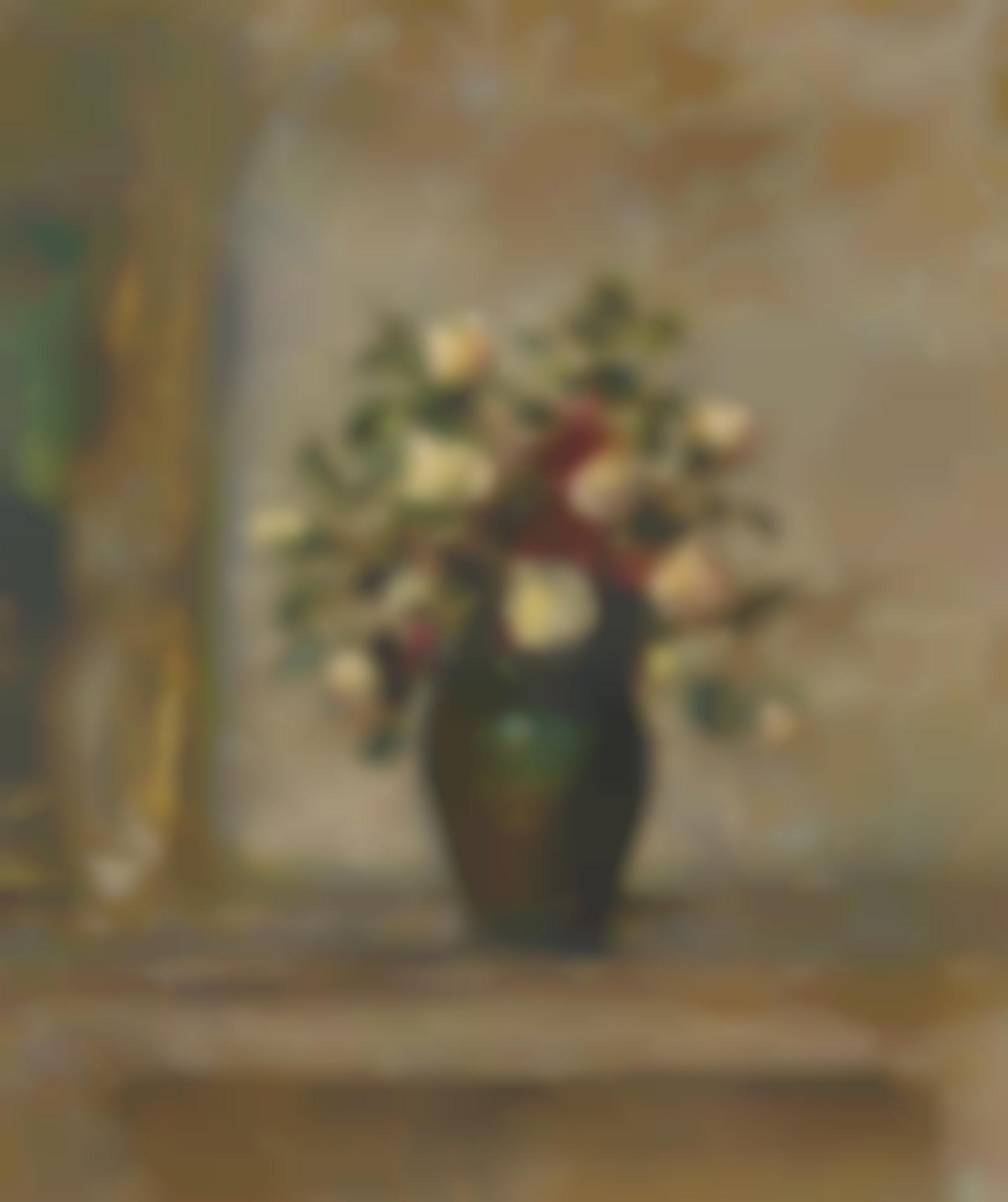 Edouard Vuillard-Roses Sur Une Cheminee-1907