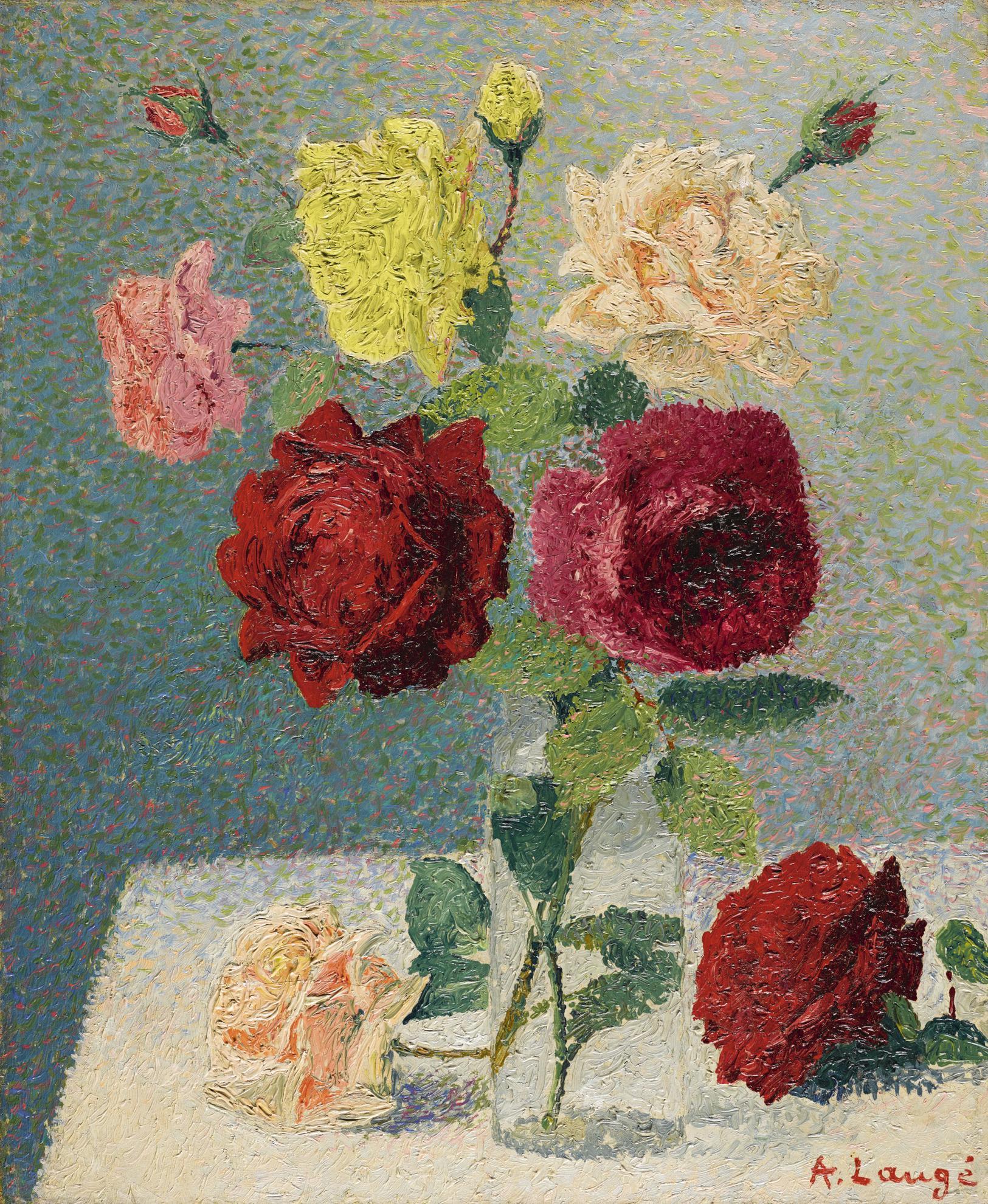 Achille Lauge-Bouquet De Roses-1905