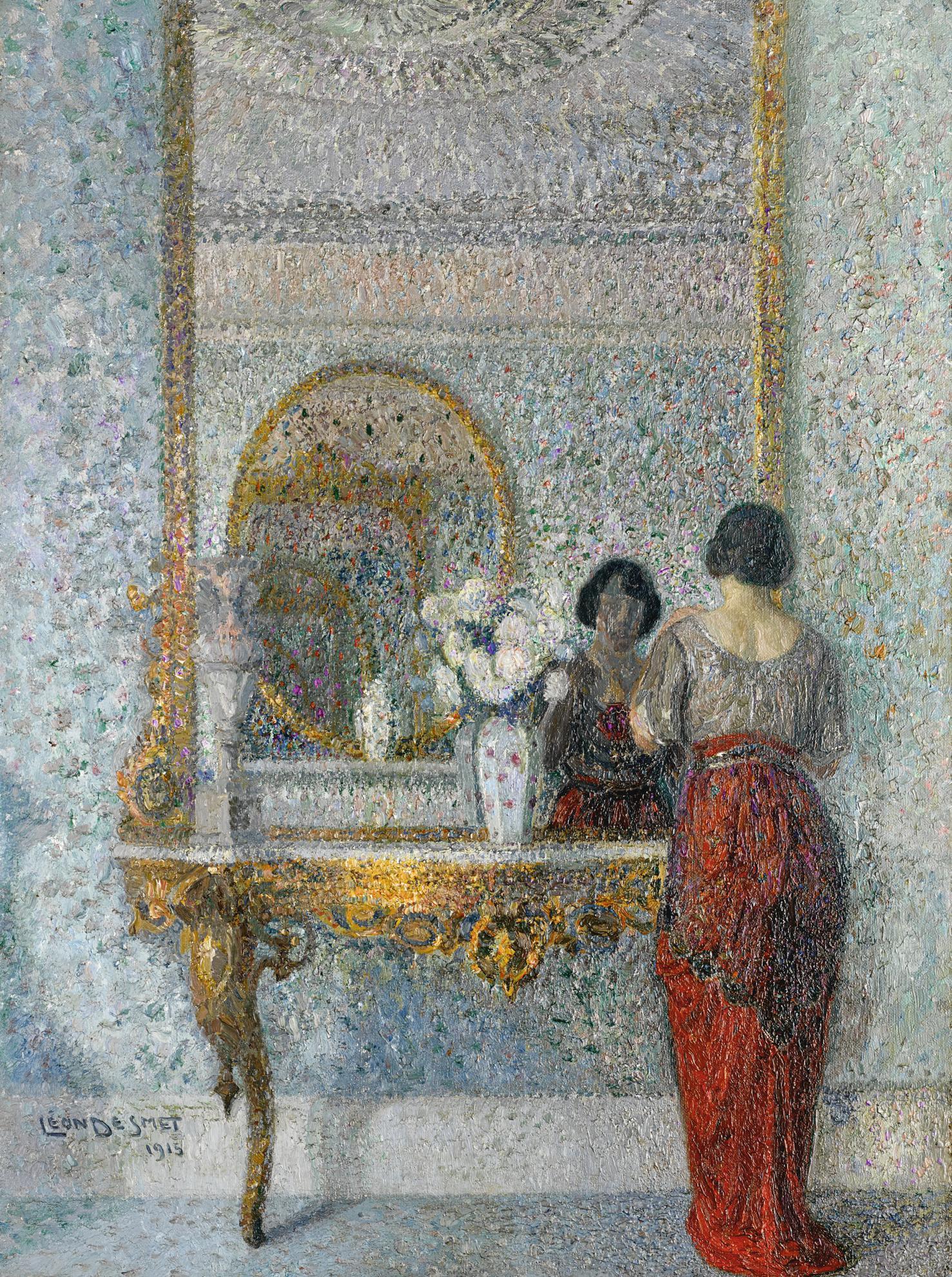 Leon De Smet-Femme Au Miroir-1915