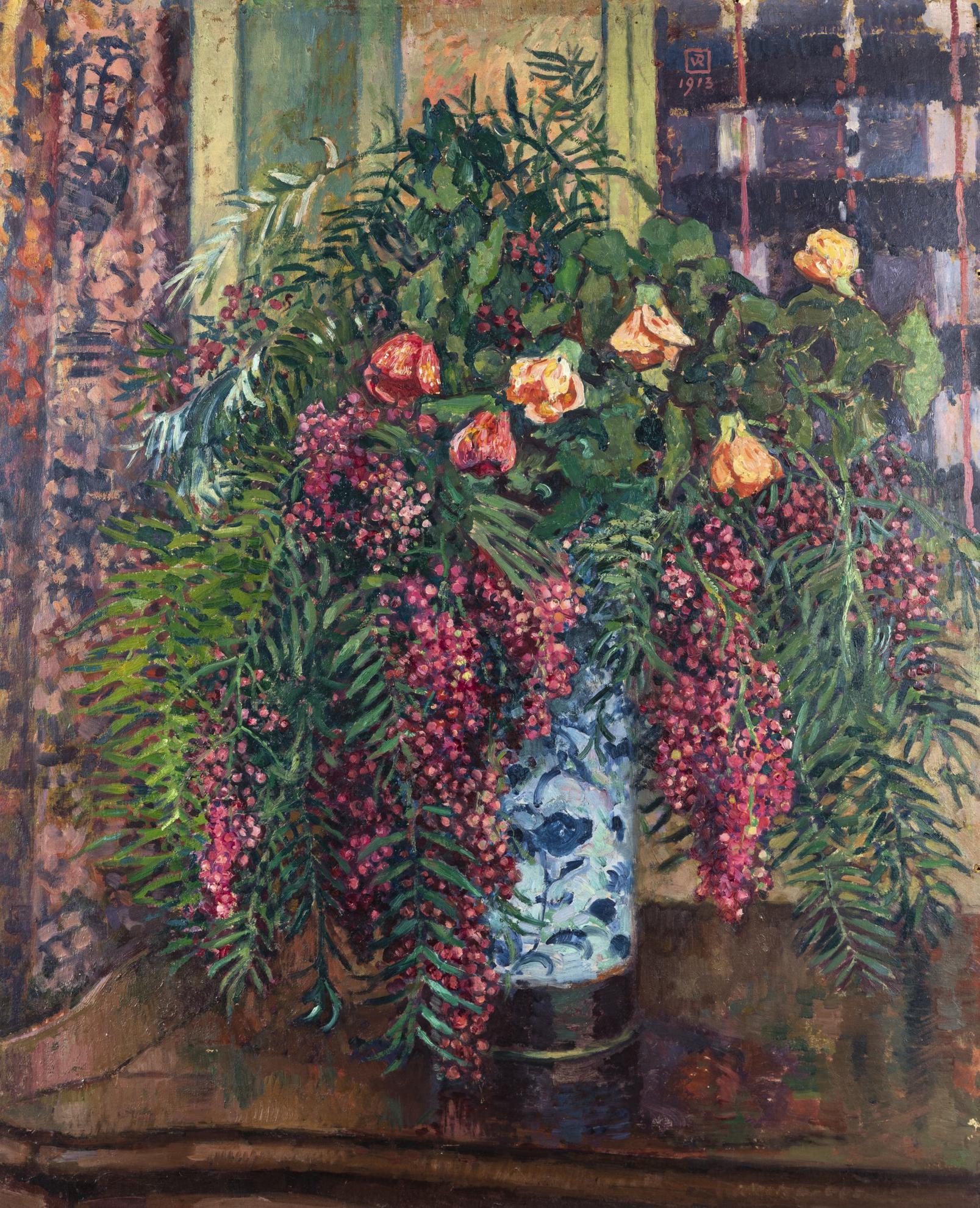 Theo van Rysselberghe-Faux-Poivriers Et Abutilon-1913